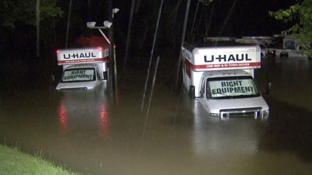 U Haul On Capital Blvd Flooded Wralcom