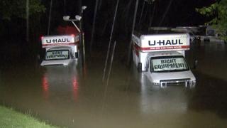U-Haul on Capital Blvd flooded