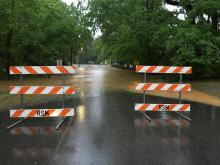 Oxford Road at Anderson Drive flooding