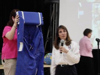 NASA astronaut Nancy Currie