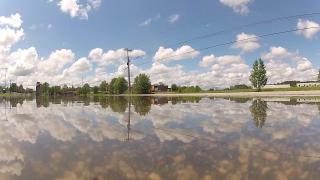 Timelapse: Flood waters rise in Wilson
