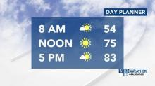 IMAGE: Expect sunshine, temps in the 80s for Mother's Day