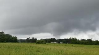 Threatening clouds over Clinton, NC part of storm system that produced...