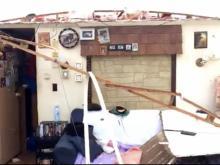 Tornado damage Autryville