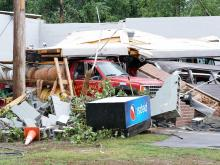 Tornado damages buildings in Sampson County
