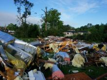 Tornado damages buildings around Autryville