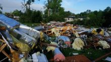 IMAGES:  Tornado damage in Sampson Co.