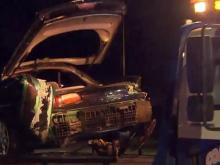 Car lands in creek after Edgecombe County crash