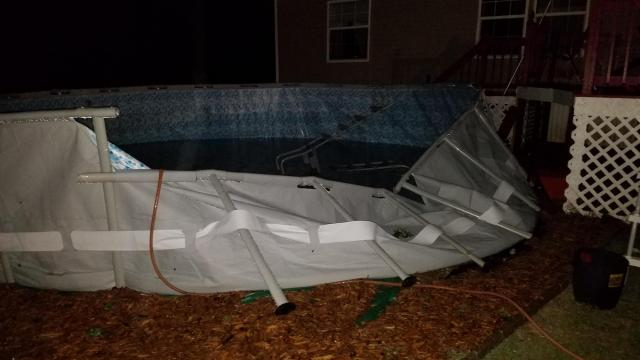 Storms cause damage in Sampson County