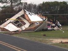 Homes destroyed, trees brought down in Sampson County storm