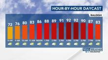 IMAGES: Heat to stick around for several days before rain brings relief