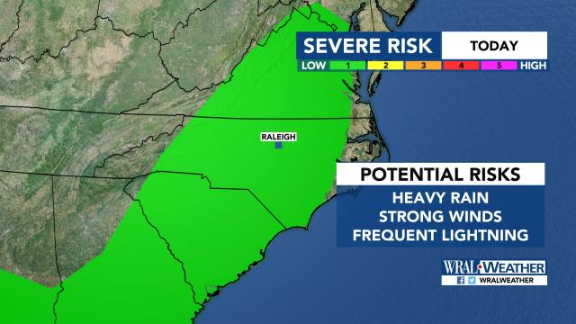 Severe storm risk, Friday, June 16