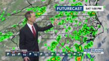 Storm cells to pop up Saturday afternoon