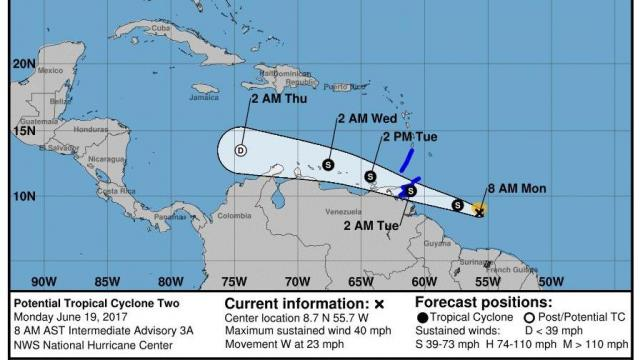Hurricane Center can now warn for 'potential' tropical cyclones