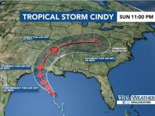 Cindy could create wet weekend in Raleigh