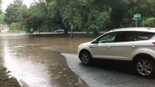 Flooding impacts Raleigh streets