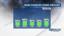 IMAGES: Rain chances go up ahead of July Fourth holiday