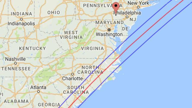 Path of total solar eclipse on March 7, 1970