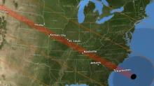 Path of 2017 solar eclipse