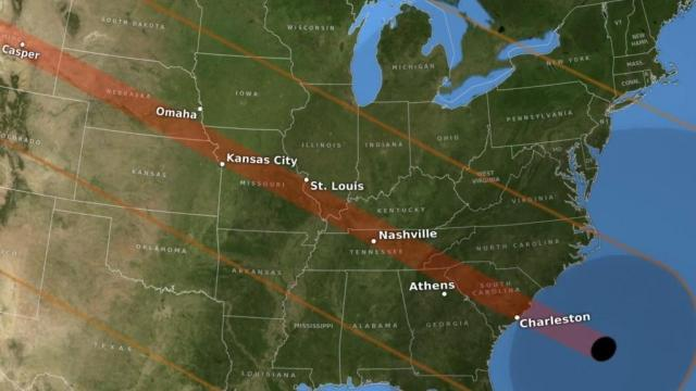 Path of 2017 solar eclipse