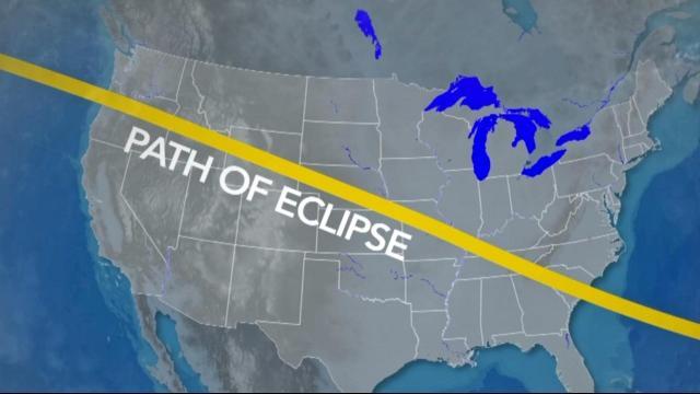 Path of Aug. 21, 2017 solar eclipse