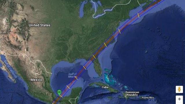 March 1970 eclipse path wide