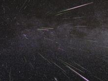 Perseid meteors light up the sky