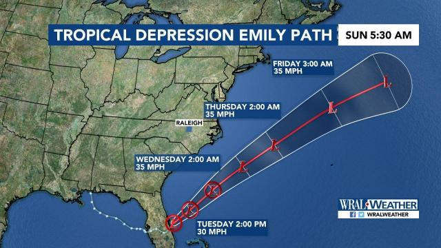 Tropical Depression Emily