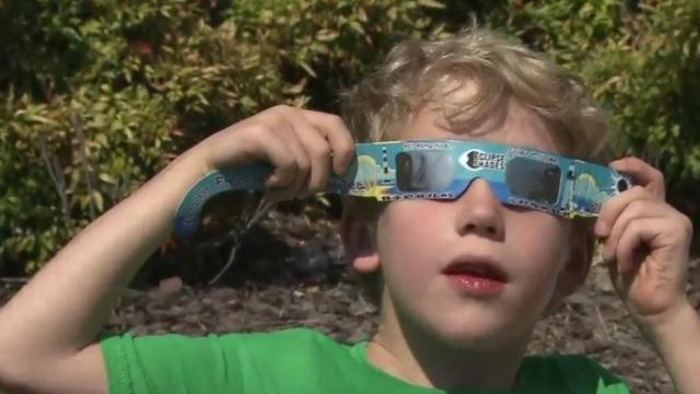 Eclipse viewing party in Chapel Hill