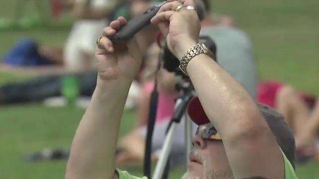 Clouds stay away for SC eclipse party