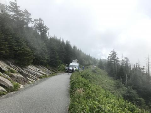 WRAL truck tests Clingman's Dome