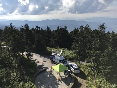WRAL on top of Clingman's Dome