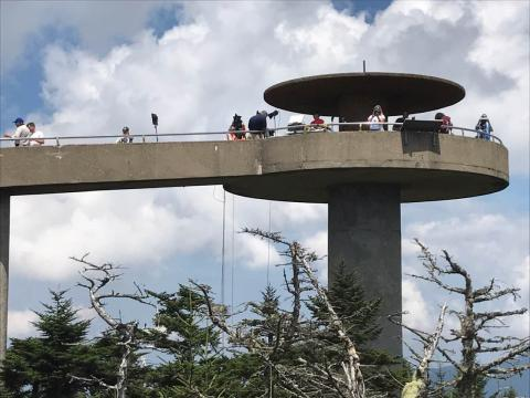 The Clingmans Dome tower
