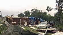 IMAGES: Residents cleaning up after brief, strong storms rip through Smithfield