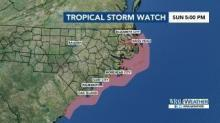 IMAGE: Tropical storm watch issued for NC coast