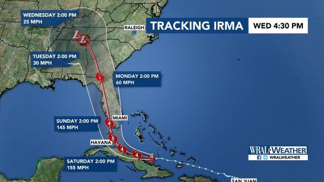 Majority Of Nc Removed From Irma S Cone Of Uncertainty Impacts