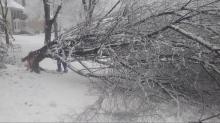 IMAGES: Cooper: Snow 'beautiful today, treacherous tonight'