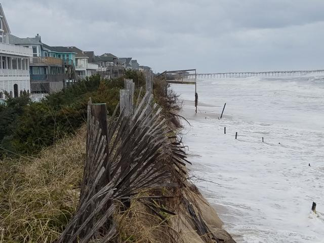 Noreaster Pounds Outer Banks Prompts Closure Of Nc 12 Wral