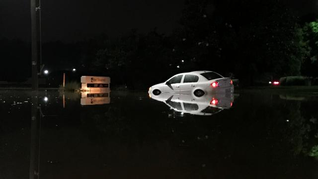 Cars stranded, towed from floodwater in Wake County