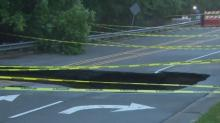 IMAGES: Sinkhole closes major Raleigh road after overnight flooding