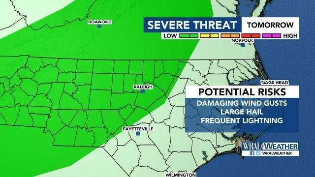 Severe threat for Friday