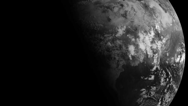 The northern hemisphere sees the most sunlight at the June solstice.  The Sun set on the North Pole and never rises at the South Pole (image: NASA/EUMETSAT)