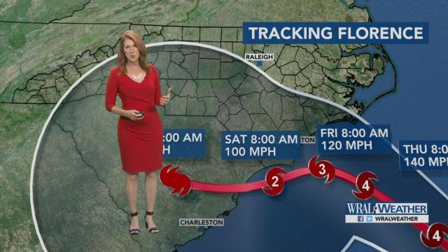 12pm update: Florence forecast :: WRAL.com