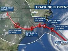 Hurricane Florence 5 pm update