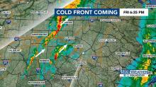 IMAGES: Cold front, heavy rains coming Friday night