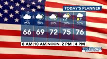 IMAGES: Showers move in to dampen Election Day