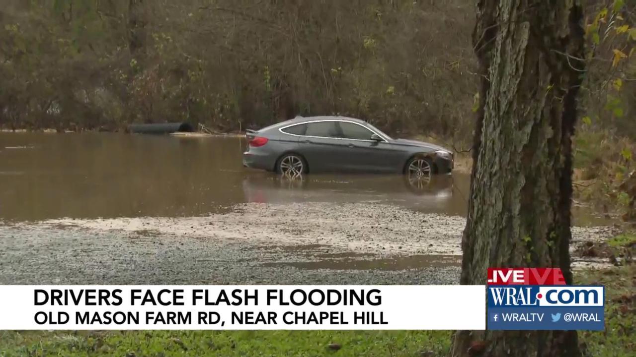 Heavy rain closes roads, prompts school delays in Durham
