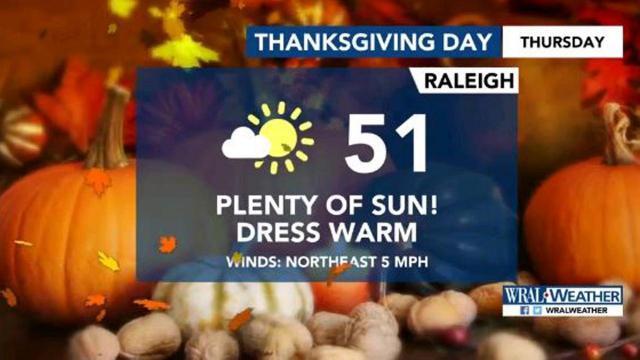 Thanksgiving forecast