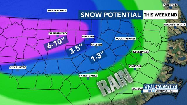 Snow potentials as of Friday morning