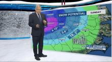 IMAGES: Storm will move out quickly, drop several inches of snow Sunday